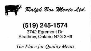Ralph Bos Meats - Strathroy